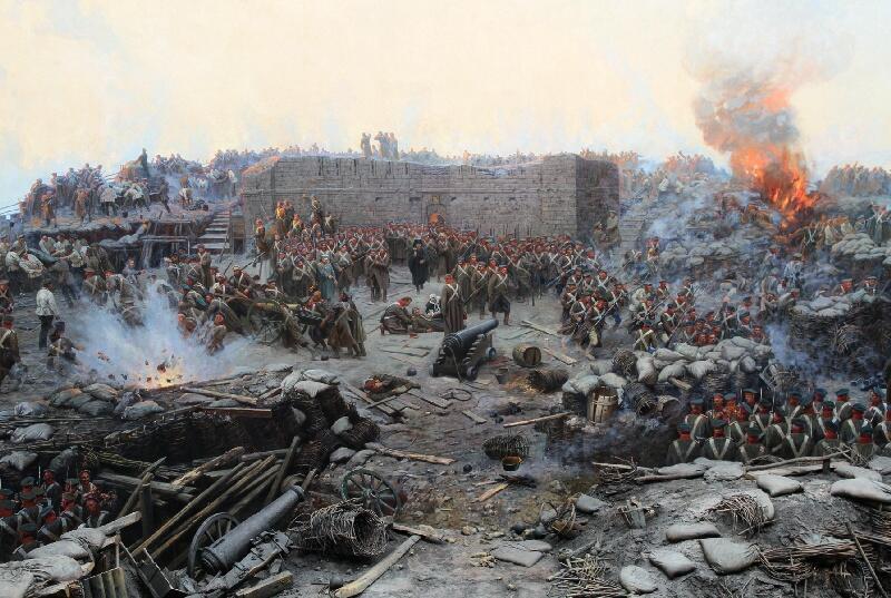 «Оборона Севастополя», Франц Рубо, деталь картины