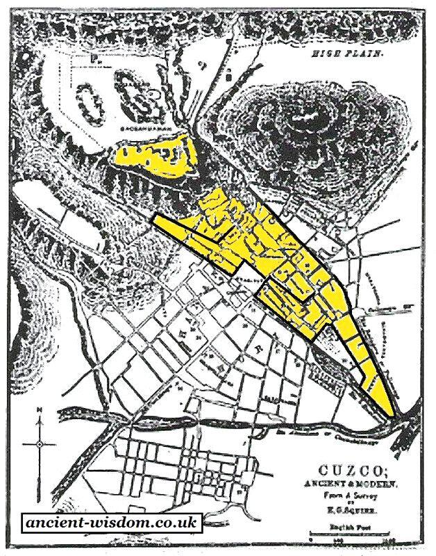 План города Куско.
