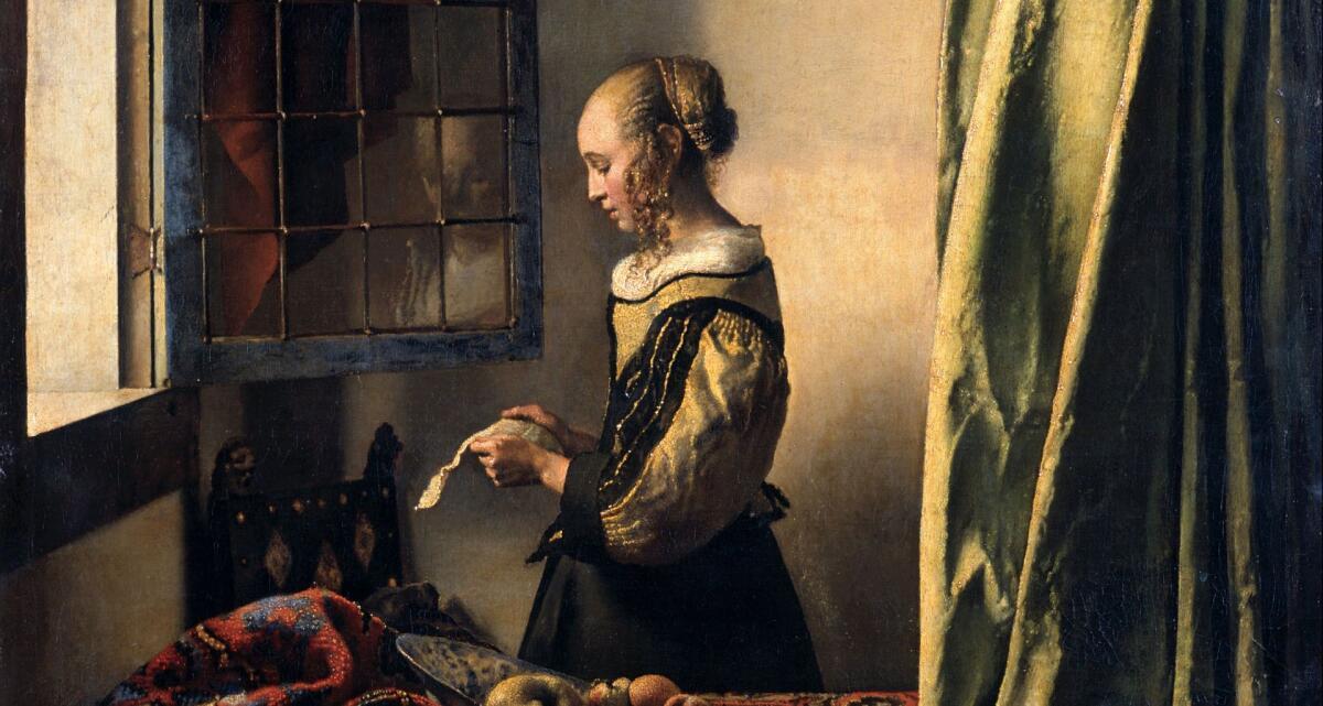 «Девушка, читающая письмо у открытого окна», картина Ян Вермеера, 1657 год