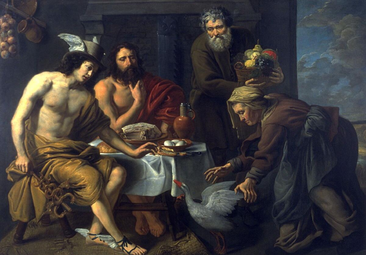 «Меркурий и Юпитер в доме у Филемона и Бавкиды», Якоб ван Ост