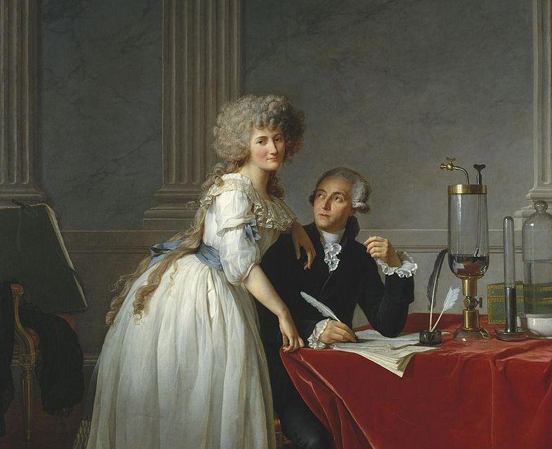 Жак Луи Давид, портрет Лорана Лавуазье и его жены Марии, 1788