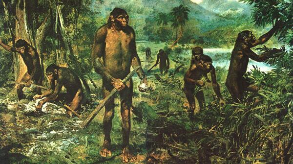 Древние люди жили племенами, охотились сообща