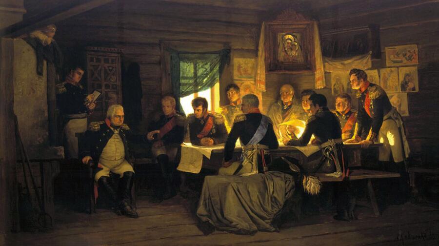 А. Д. Кившенко, «Военный совет в Филях», 1880 г.