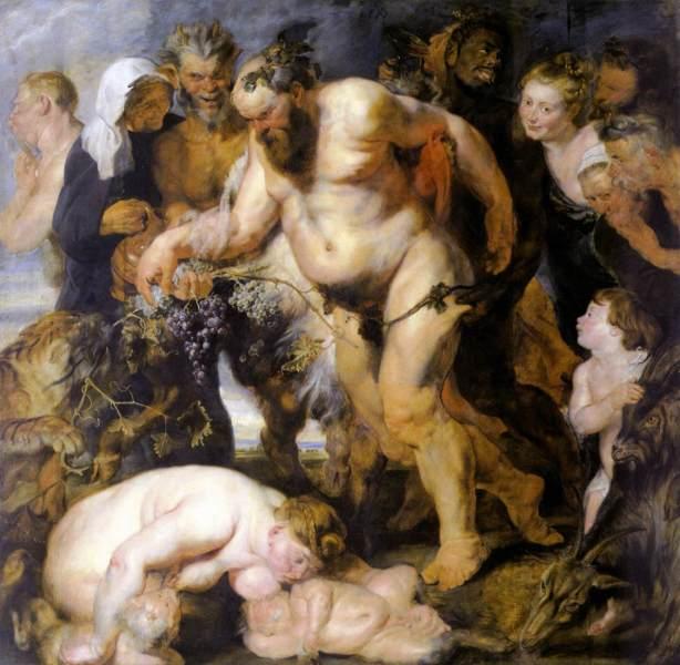 Пьяный Силен, Рубенс, 1617