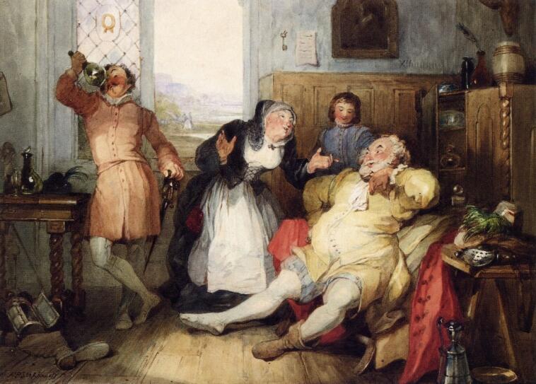 Ф. Ф. Степанофф, Фальстаф и миссис Куикли, Ок. 1840