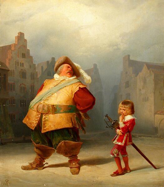 Адольф Шрёдтер, Фальстаф и его паж, 1867