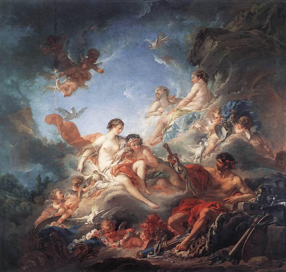 «Гефест находит доспехи Ареса», картина Франсуа Буше