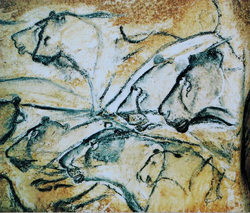 Изображения пещерных львов в пещере Шове