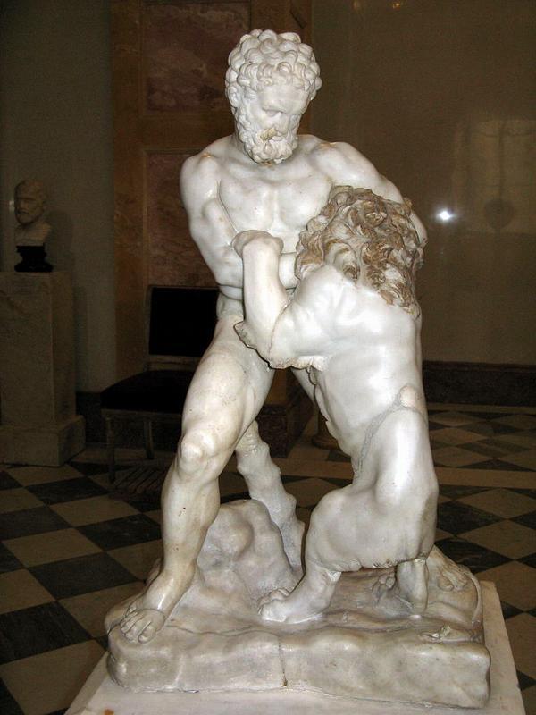 Схватка Геракла и Немейского льва