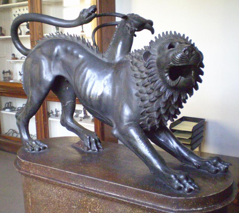 Химера - помесь льва и змеи