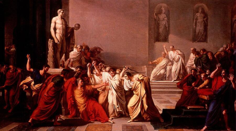 Винченцо Камуччини, убийство Цезаря