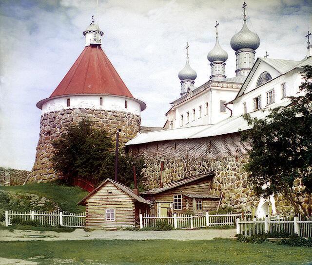 После смерти Павла I монах Авель был сослан в Соловецкий монастырь, фото Прокудина-Горского, начало ХХ века