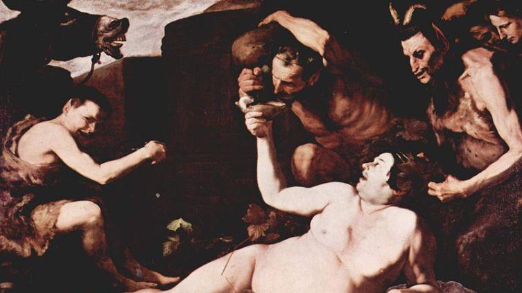 Хусепе де Рибера, «Пьяный Силен», фрагмент, 1626 г.