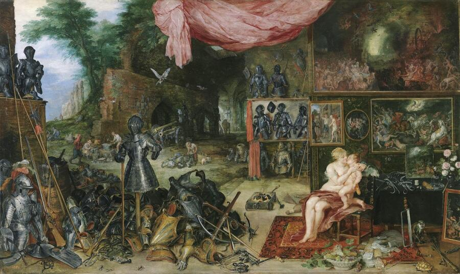 Питер Пауль Рубенс, Ян Брейгель Старший, Осязание, 1618, 64х110 см, Прадо, Мадрид, Испания