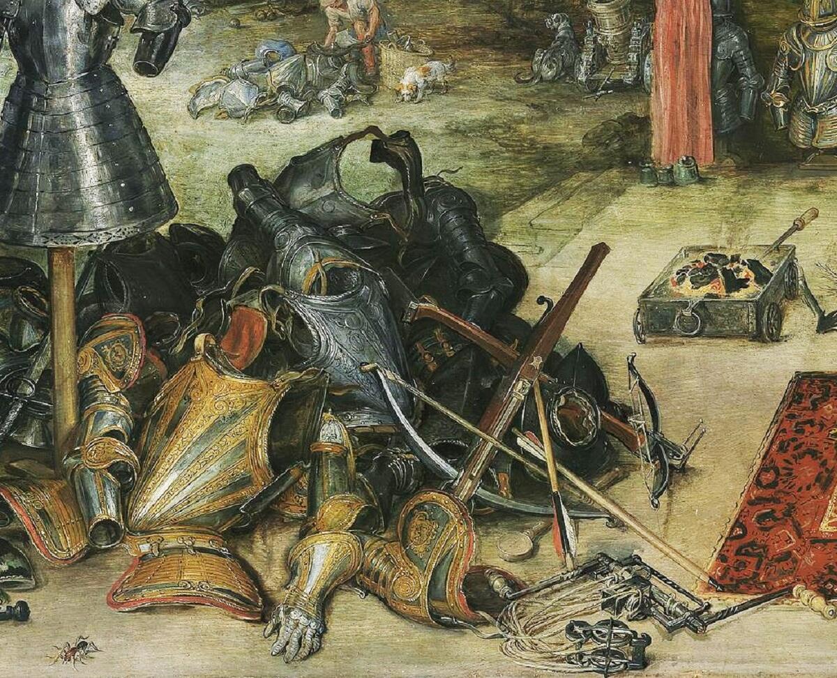 Питер Пауль Рубенс, Ян Брейгель Старший, Осязание, фрагмент «Доспехи»