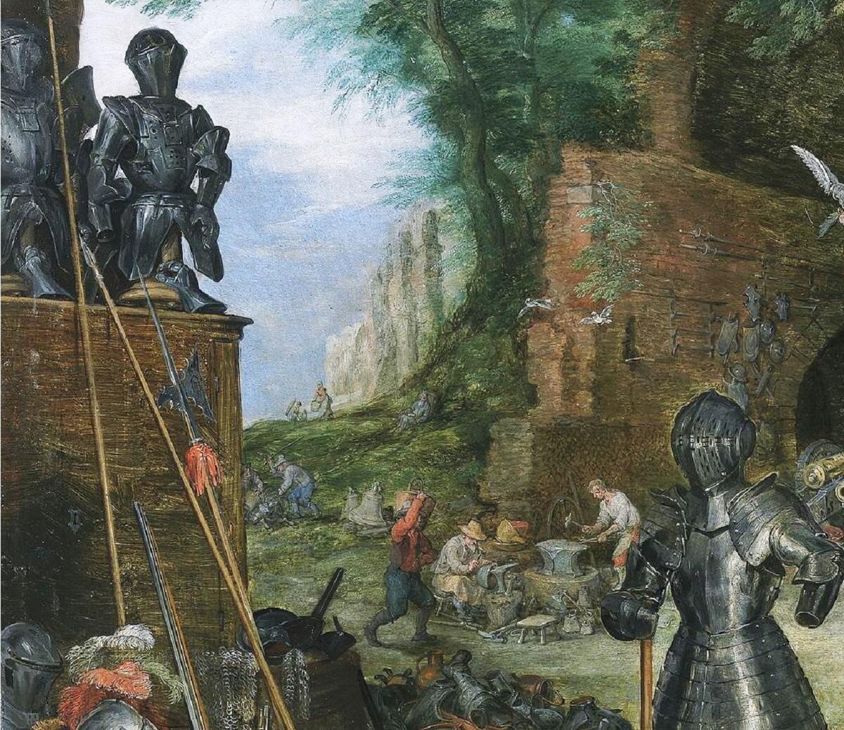 Питер Пауль Рубенс, Ян Брейгель Старший, Осязание, фрагмент «Кузница»