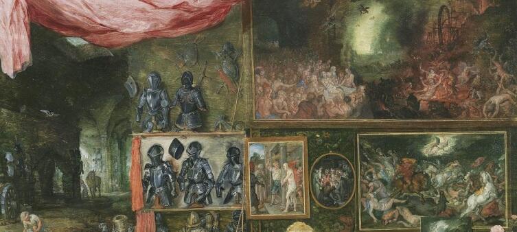 Питер Пауль Рубенс, Ян Брейгель Старший, Осязание, фрагмент «Страшный суд»