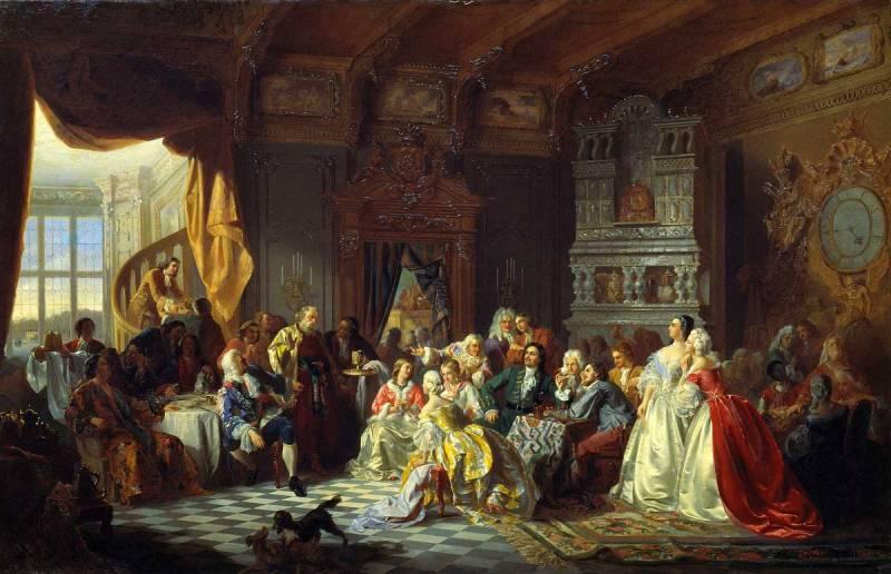 С. Хлебовский, «Ассамблея при Петре I», 1858г.