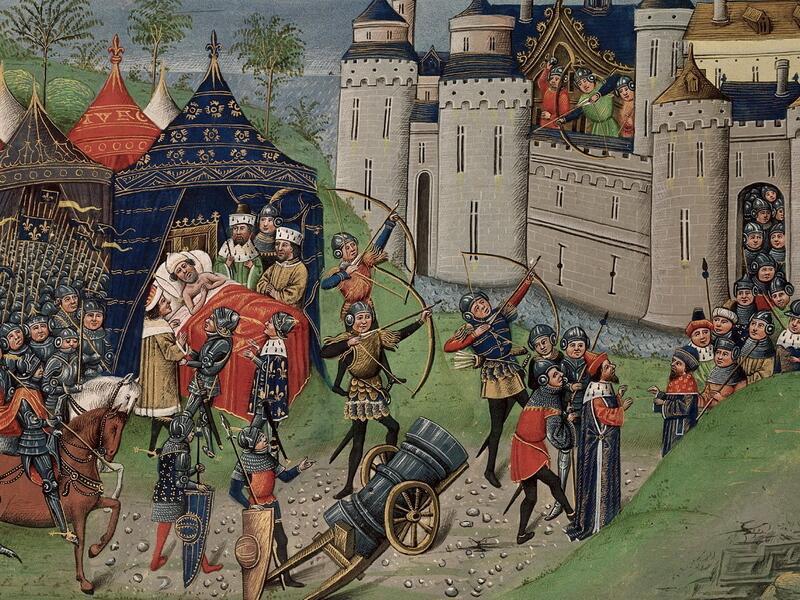 Смерть дю Геклена, средневековая миниатюра
