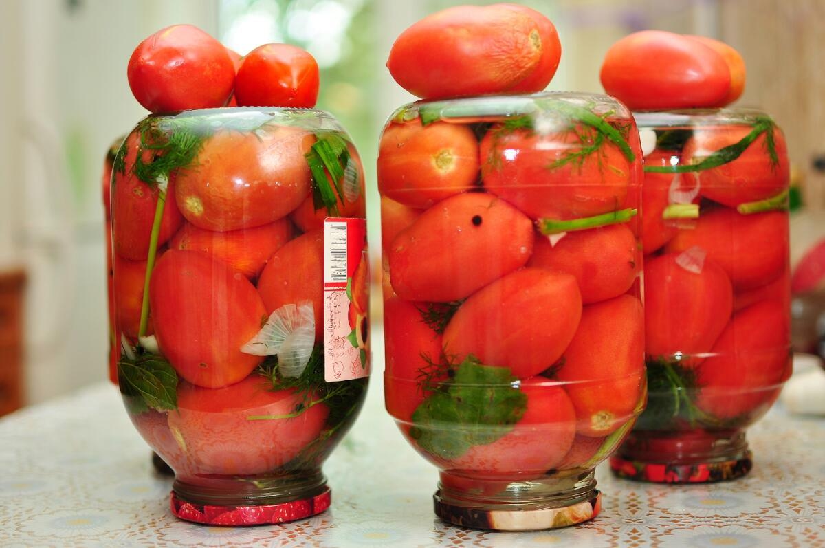 Чесночные томаты