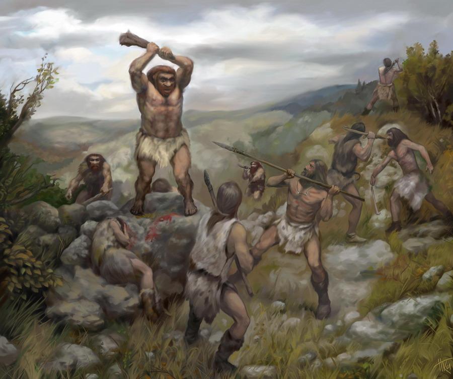 Война людей с людьми— неандертальцев с кроманьонцами