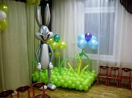 Как сделать цветы из шаров фото фото 139
