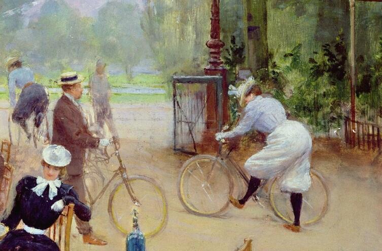 Жан Беро, Приют велосипедистов в Булонском лесу, фрагмент