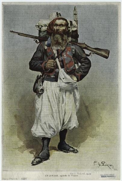 Victor Armand Poirson, Зуав, 1888