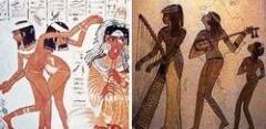 Древнеегипетские танцовщицы и музыкантши