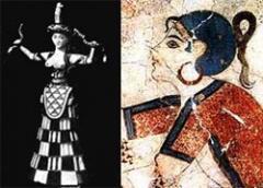 """Критские красавицы: богиня со змеями и """"Парижанка"""""""