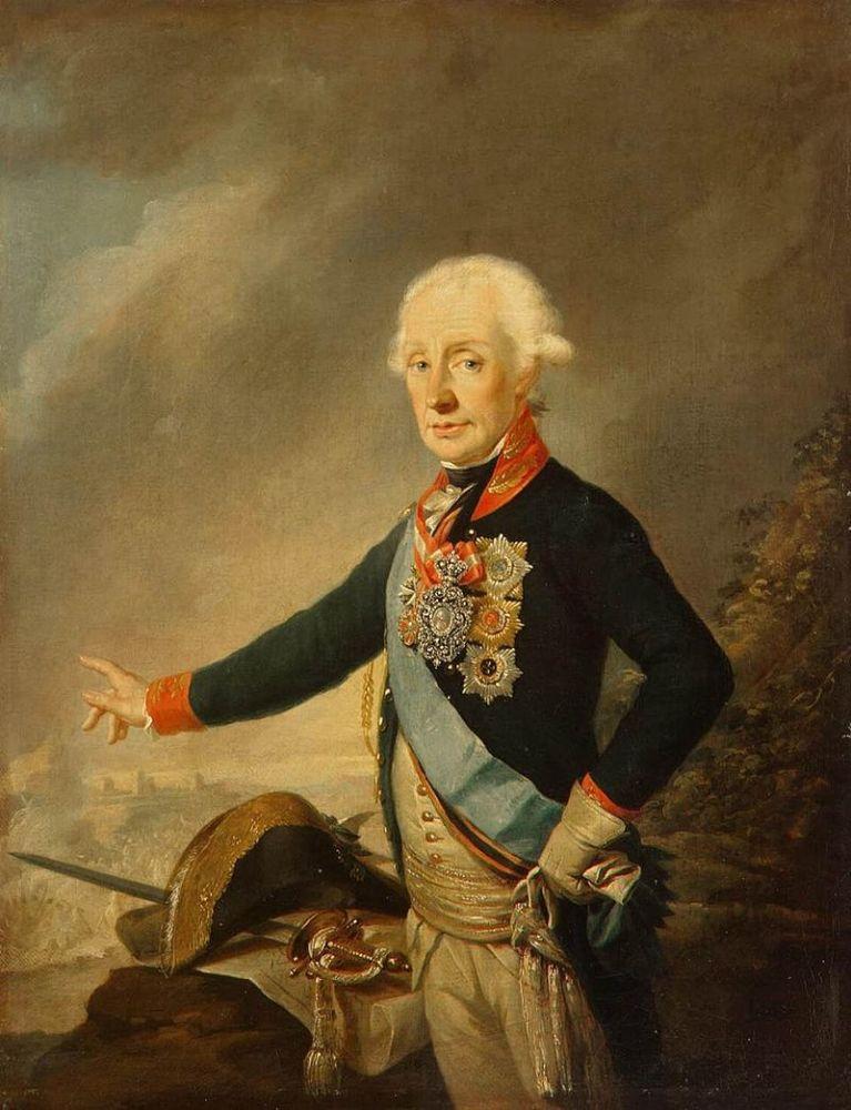 Й. Крейцингер, портрет фельдмаршала графа А. В. Суворова,  1799 год