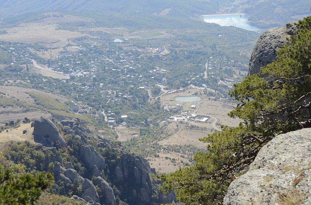Вид с горы Демерджи