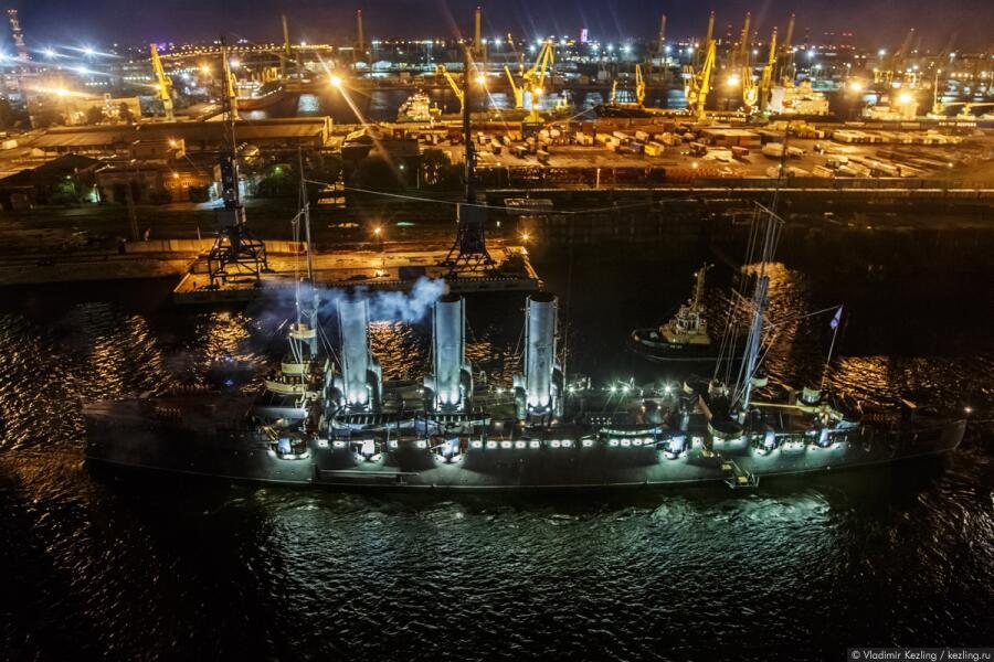 Крейсер «Аврора» после ремонта, 2016г