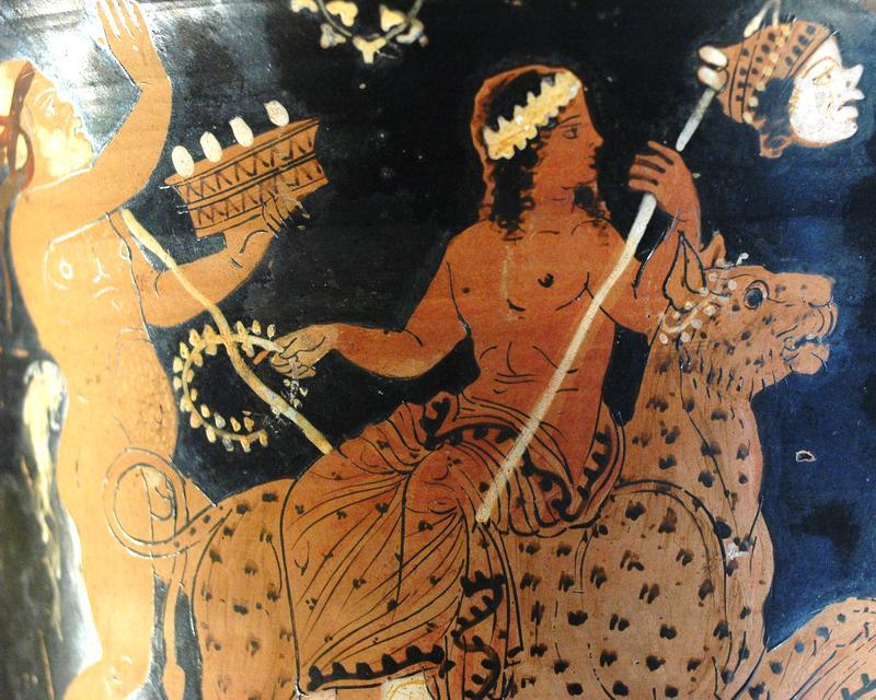 Римский бог вина - Дионис - верхом на леопарде