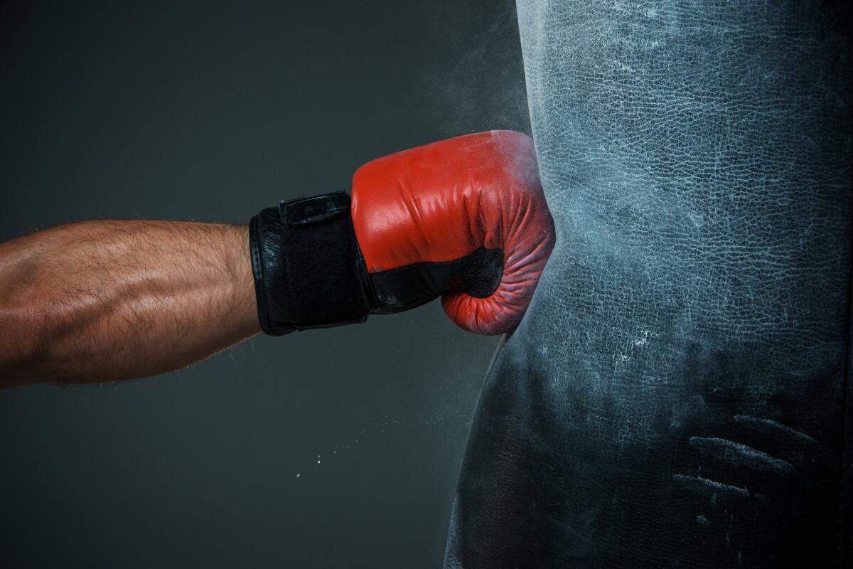 В домашнем тренажере для отработки ударов главное - бесшумность и хорошее крепление