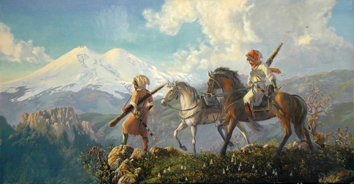 «Возвращение», картина Аслана Кармокова