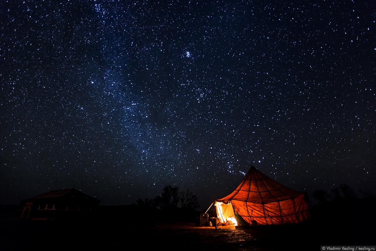 Ночное небо над Сахарой