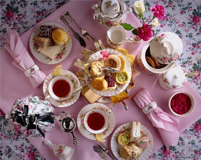 Сервировка вечернего чаепития