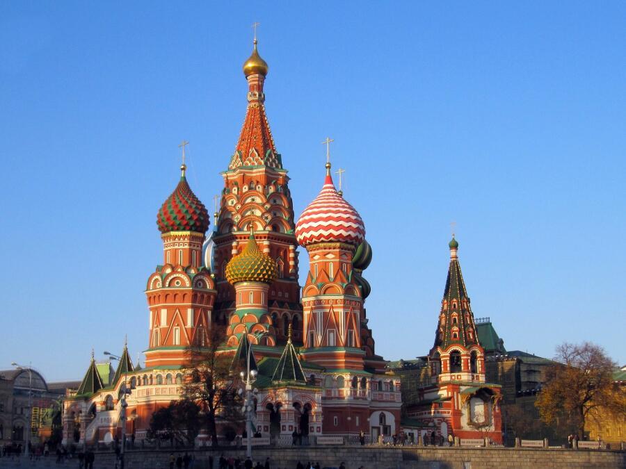 Собор Василия Блаженного в Москве, воздвигнутый по приказу Ивана Грозного