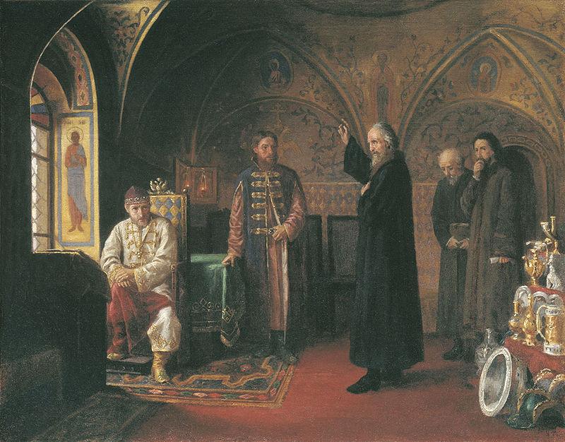 Я. П. Турлыгин, «Митрополит Филипп обличает Ивана Грозного»