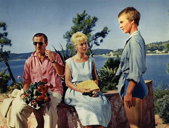 Кадр из ф-ма «Здравствуй, грусть», 1958 г.
