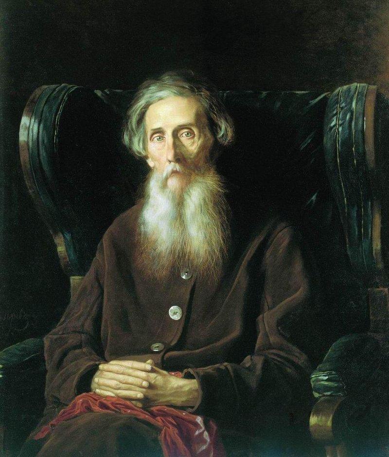 В. Перов, портрет Владимира Ивановича Даля, 1872 г.
