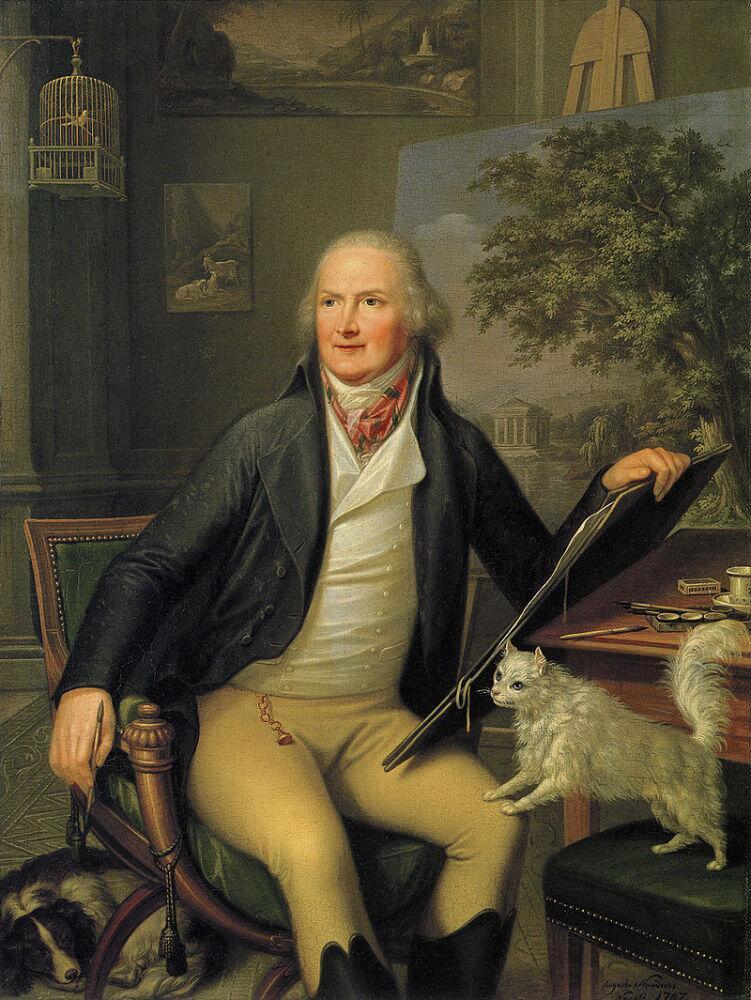 Гаккерт в своей мастерской. 1797г. картина Августо Никодемо