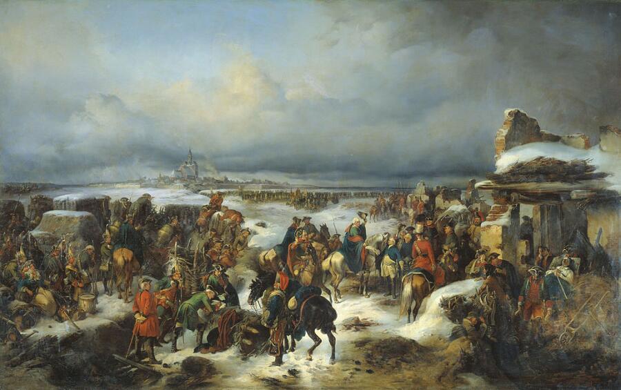 А. Коцебу, «Взятие крепости Кольберг в ходе Семилетней войны», 1852 г.