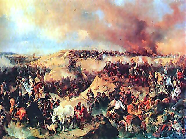 А. Коцебу. «Кунерсдорфское сражение»,1848 г.