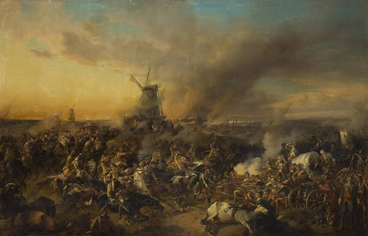 А. Коцебу, «Цорндорфское сражение», 1852 г.