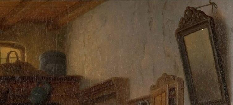 "Базиль де Луз, Старый развратник, фрагмент "" Трещины на стене"""