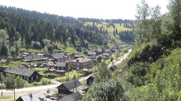 Рудник Старый Берикуль, улица Горняка, Тисульский район, июль 2006