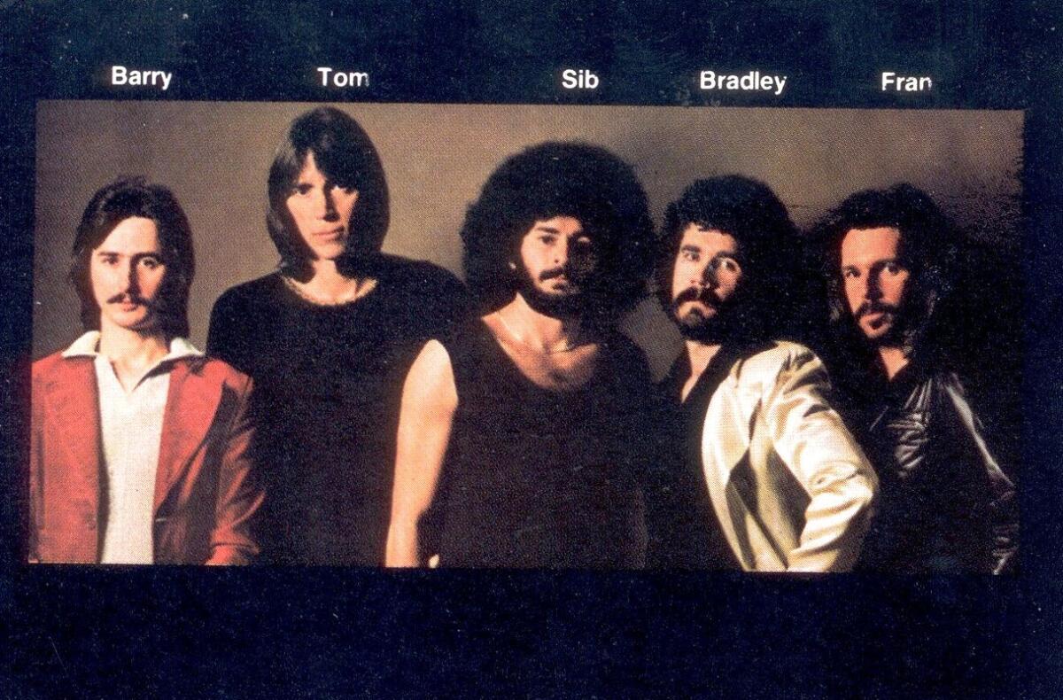 Участники группы BOSTON: Барри Гудро, Том Шольц, Сайб Хашиан, Брэд Делп, Фрэн Шихан.
