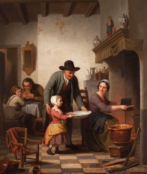 Базиль де Луз, Вафли, 1853, 81х68 см, коллекция Рэйдмэйкеров